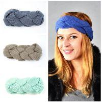 Popular ladies winter headband knitted hair band Christmas headband