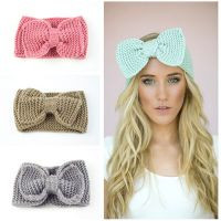 China supplier custom headband elastic winter crochet headbands women