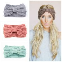China supplier various colors women winter knitted headband wholesale