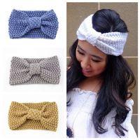 Wholesale women elastic hairband winter