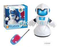2 CH hot sale intelligent plastic rc walking toy robot with music