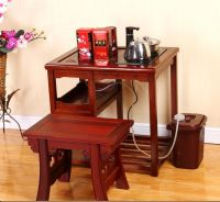 solid wood tea table and chairs set for dining room