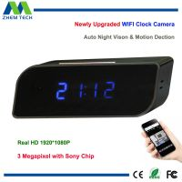 HD 1920x1080P Wifi Spy Table Clock Hidden Camera