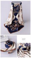 Scarf factory 90 x 90cm custom printed silk scarves ladies chain pattern pure silk square scarf