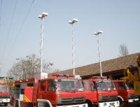 300w 12v high mast mobile led light tower, LED bulb,40000lm,pneumatic mast