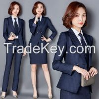 �Not for sale�Ladies striped suit  Career Dresse