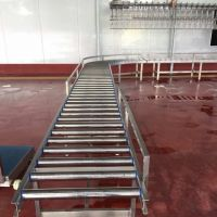 ROLLER CONVEYOR, LIVE BIRDS HANDLING, POULTRY PROCESSING EQUIPMENT