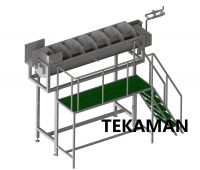FEET SCALDER - POULTRY DEFEATHERING - POULTRY PROCESSING EQUIPMENT