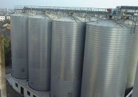 Raw material storage 300tons soybean meal steel silo project