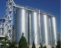 Finished products bulk steel silo project for feed plant feed production line