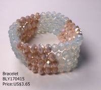 fashion beaded bracelet handmade elastic bracelet multillayer bracelet
