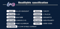 auoto LED lights, H4 Hi/Lo  160W LED headlight , H4 LED headlight fanless,
