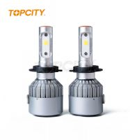 Topcity ® High quality auto led headlamp H4 60W car cob led headlight