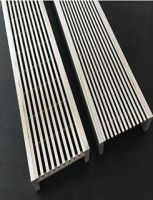 Pool,floor and shower drain grating with wedge wire grate