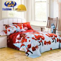 4pcs Microfiber Flower Printed Polyester Cheap Twin Comforter Sets