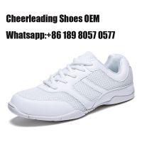 Pure white cheerleading shoes from Jinjiang sport shoe factory