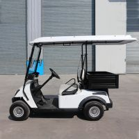 Electric vehicle 2 seater golf carts with cargo box