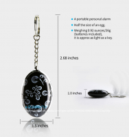 Portable 120db Siren Personal Alarm Keychain Anti Rape Security Gadget for Women, Elderly