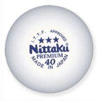 NITTAKU 3-STAR PREMIUM WHITE Ball