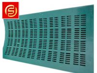 factory supply  pu curved rotary drum screen