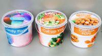 plastic food tub with tamperproof lid