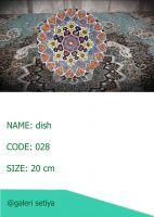 Enamel pottery dish