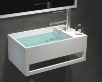 Solid surface basin artificial stone top