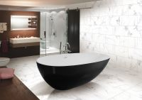 Modern Artificial Stone Bathtub Freestanding floor mount Bathtub Resin Tub Solid surface