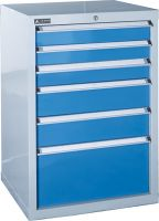 SanJi-First Tool Cabinet, Central locking system , Blue+Gray+ Red, Bearing A/B       tabletop optional, Can be customized
