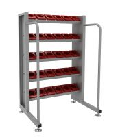 SanJi-First CNC Tool Rack,Large capacity, safe placement and Send 40PCS BT40 Single Hole Cutter Boxes Blue+Gray+ Red  Color optional,Can be customized