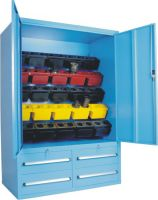 SanJi-First CNC Tool Cabinet,Large capacity, safe placement and Send 25PCS BT50 Double Hole Cutter Boxes for each Set Blue  Can be customized