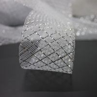 Silver metal thread horse hair braid crinoline for bridal dress and Modern latin dance dress
