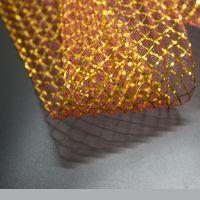 Gold metal thread contrast polyester horsehair braid crinoline
