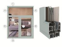D50-series broken bridge insulated casement window series