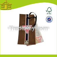 Custom famous brands hole punch recycled luxury paper hang tags clothi