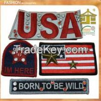 wholesale customized embroidered country flag patch