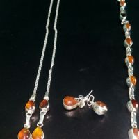 Larimar and Amber Jewelry