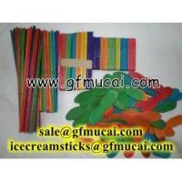 birch wood color craft sticks