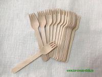 birch wood spork fork