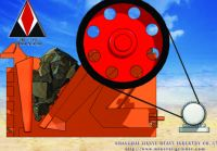 Coarse rock jaw crusher
