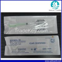 RFID pet microchips with syringe for dog cat