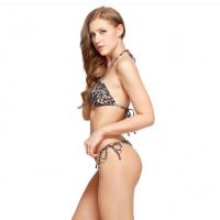 I-GLAM Golden Print Leopard Triangle Top Brazilian Thong Bikini