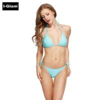I-Glam Aqua Blue Sexy Women Brazilian Bikini Swimwear