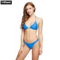 I-Glam Blue Sexy Women Brazilian Bikini Swimwear