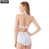 I-Glam White High Waist Sexy Bikini Swimwear