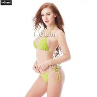 I-Glam Yellow Sexy Women Brazilian Bikini Swimwear