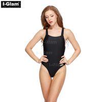 I-Glam One-piece Sexy Black Bikini Swimwear