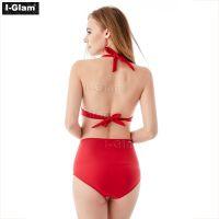 I-Glam Red High Waist Sexy Bikini Swimwear