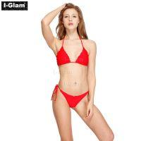 I-Glam Two Piece Sexy Women Red Brazilian Bikini Swimwear