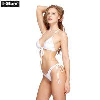 I-Glam Two Piece Sexy Women White Brazilian Bikini Swimwear